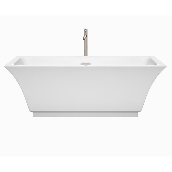 Galina 67 x 31.3 Freestanding Soaking Bathtub by Wyndham Collection