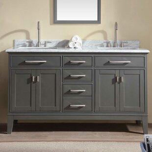 Bathroom Vanities Double Sink. Save Ari Kitchen Bath Danny 60 Double Bathroom Vanity Set