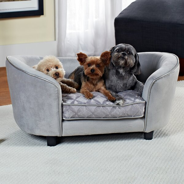 Constantine Quicksilver Dog Sofa by Archie & Oscar