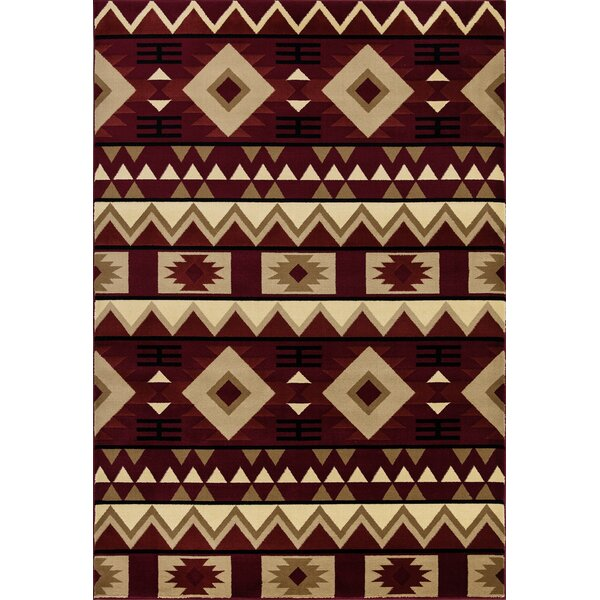 Paugh Premium Southwestern Natïve Red/Cream Area Rug by Union Rustic