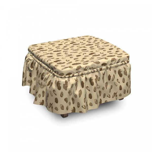Natural Organic Seeds Ottoman Slipcover (Set Of 2) By East Urban Home
