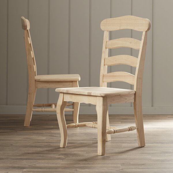 Lynn Country Solid Wood Dining Chair (Set of 2) by Mistana