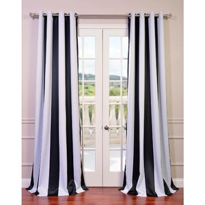 Boatwright Striped Blackout Thermal Grommet Single Curtain Panel