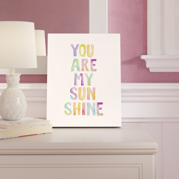 Phoebe You are My Sunshine Canvas Art by Viv + Rae