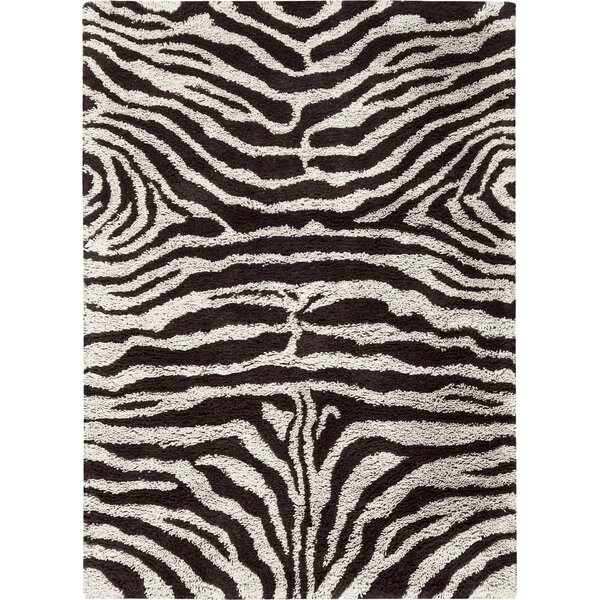 Rosalba Hand-Tufted Black/White Area Rug by Bloomsbury Market