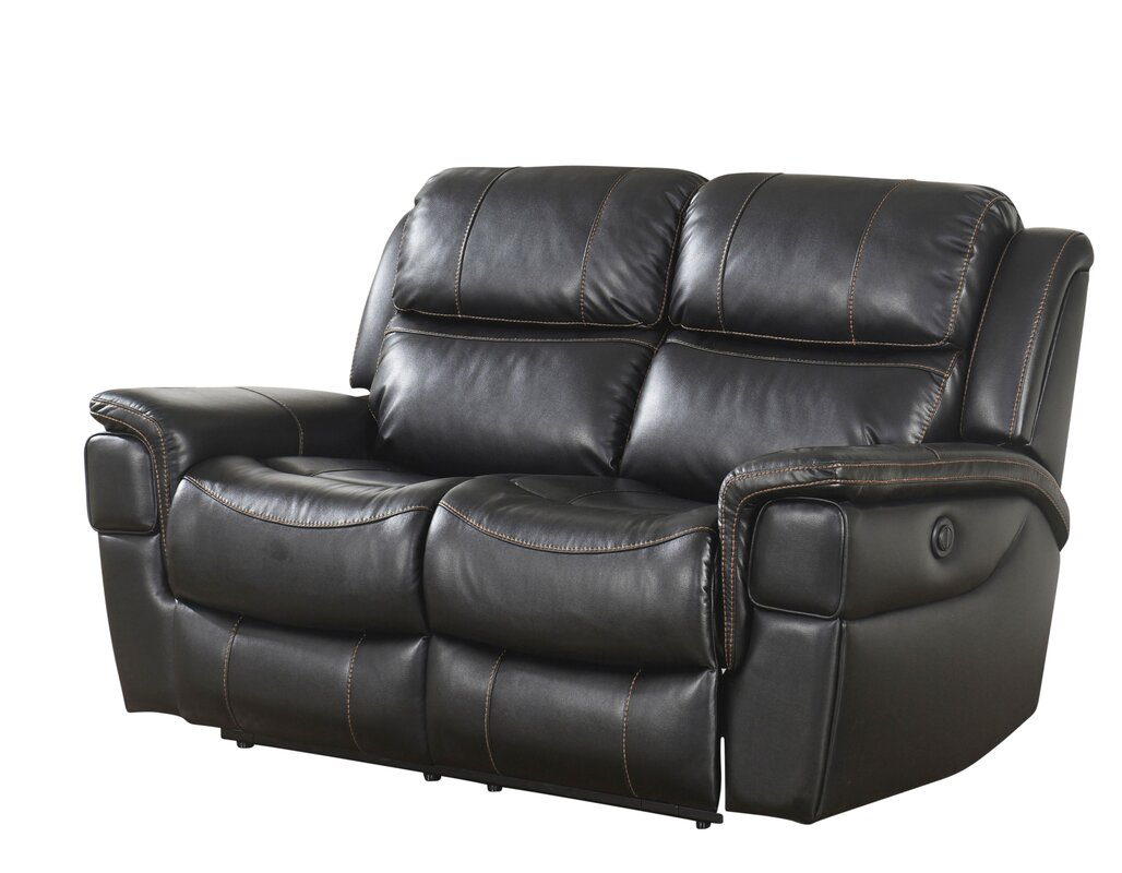 front reclining nederland console view electric loveseat brown power with grover