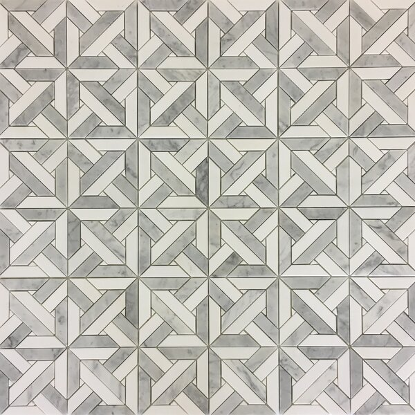 Waterjet 12 x 12 Marble Mosaic Wall & Floor Tile
