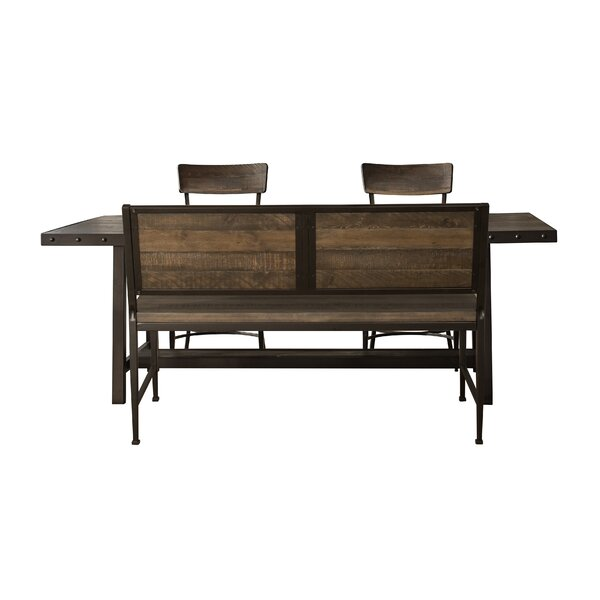 Putney 4 Piece Solid Wood Dining Set by Gracie Oaks