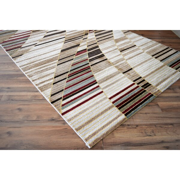 Lus White/Brown Area Rug by Ebern Designs
