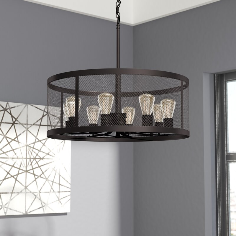 save to idea board - Dining Room Drum Chandelier