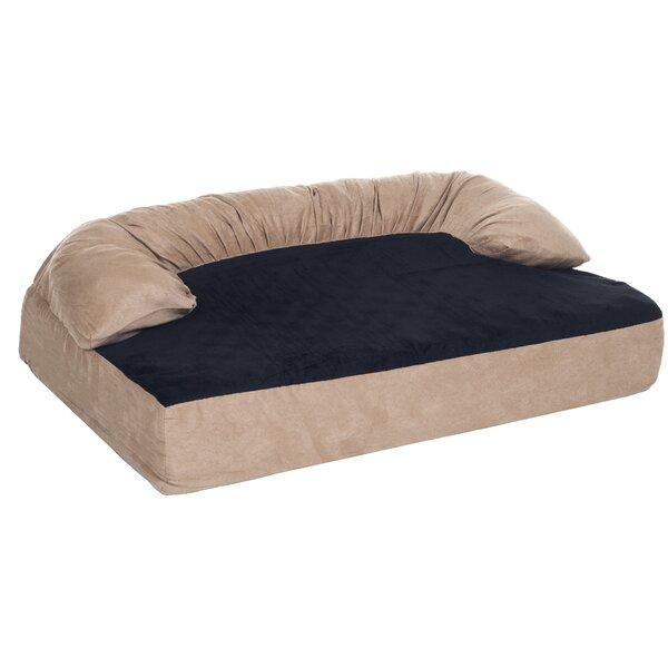 Casper Orthopedic Memory Foam Pet Bolster Bed with Removable Plush Memory Foam by Tucker Murphy Pet