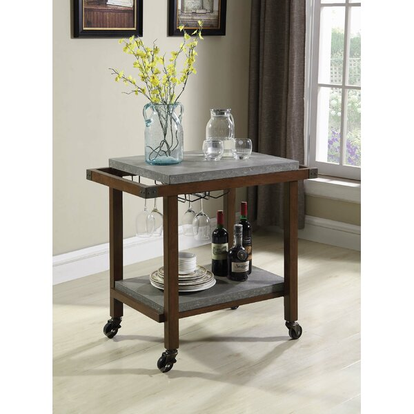 Serena 2 Tier Serving Bar Cart by 17 Stories
