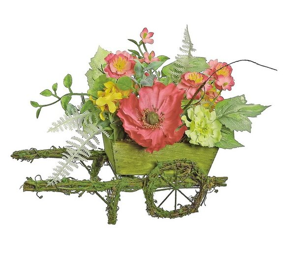 Decorative Poppy and Wildflower Artificial Centerpiece in Planter by Northlight Seasonal