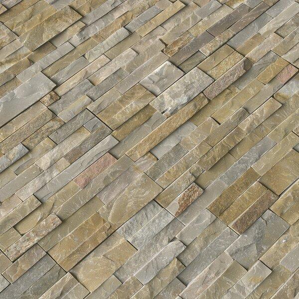 6 x 24 Quartzite Splitface Tile in Gold/Gray by MSI