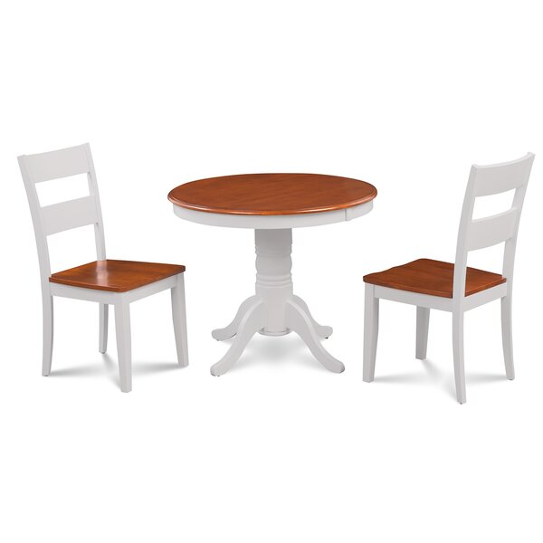 Cedarville Elegant 3 Piece Solid Wood Dining Set by Alcott Hill