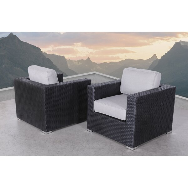 Tuncer Patio Chair with Cushions (Set of 2) by Latitude Run