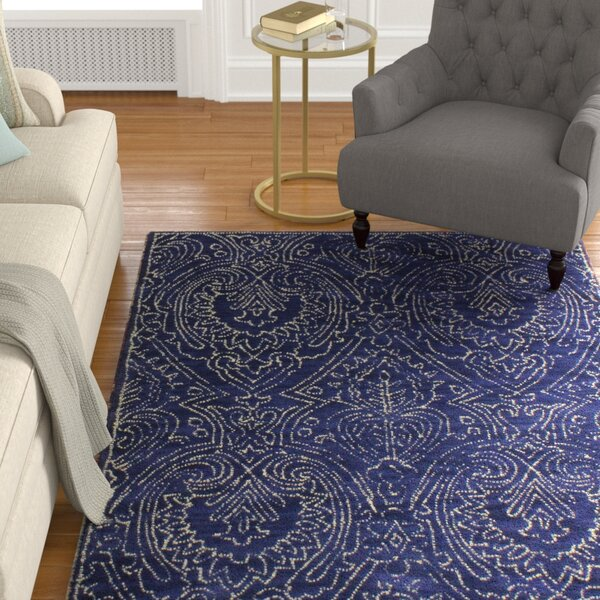Goodridge Hand-Tufted Navy Area Rug by Alcott Hill