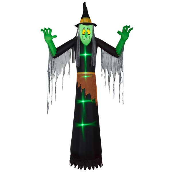 Halloween Witch Inflatable by The Holiday Aisle