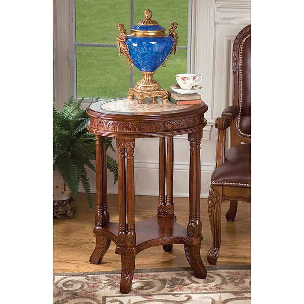 Balfour Colonnade End Table With Storage By Design Toscano