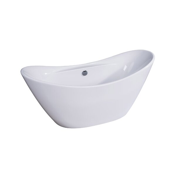 Siena 29 x 68 Freestanding Soaking Bathtub by Dyconn Faucet