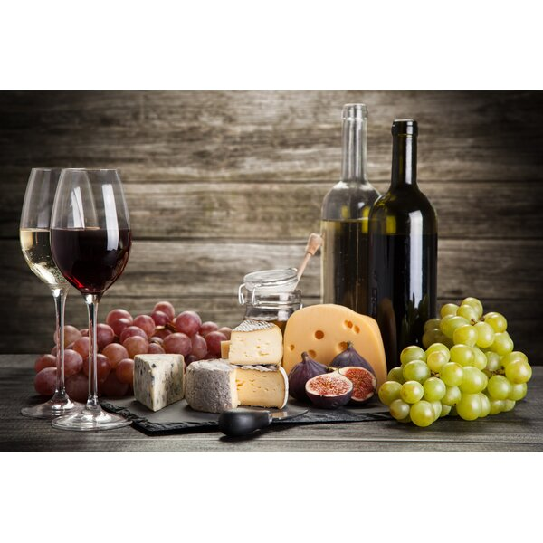 Grapes and Wine Foam Placemat (Set of 4) by East Urban Home