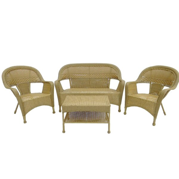 Ola Outdoor Patio Furniture 4 Piece Sofa Seating Group by Darby Home Co