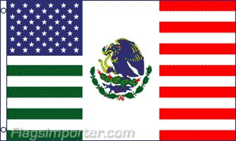 USA Mexico Friendship Traditional Flag by Flags Importer