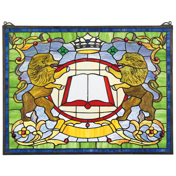 Lion Coat of Arms Window by Design Toscano