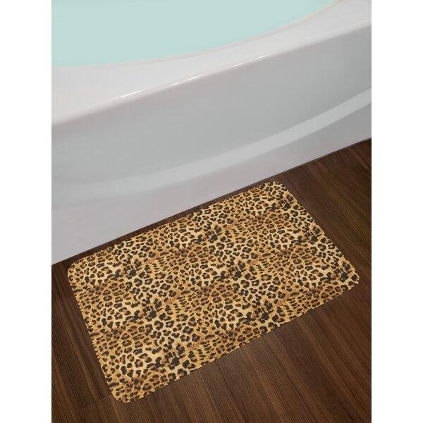 Leopard Non Slip Plush Bath Rug