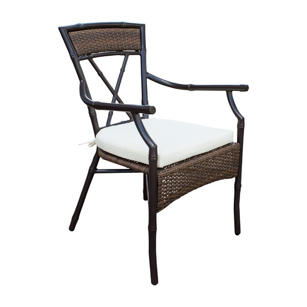Rum Cay Stacking Patio Dining Chair with Cushion by Panama Jack Outdoor