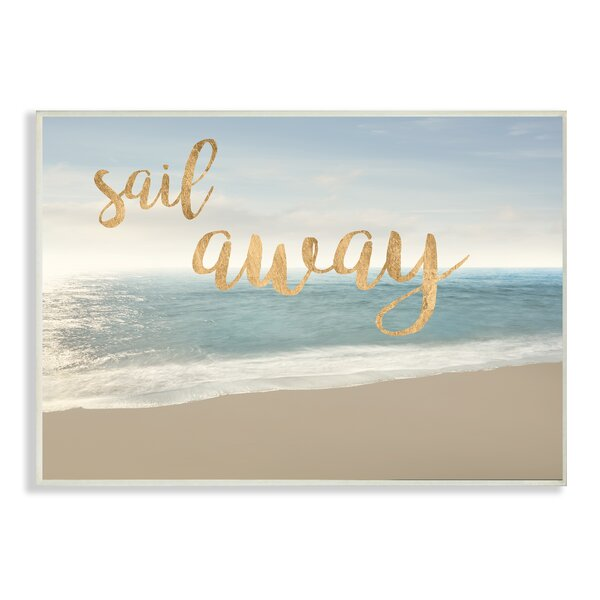 Sail Away Seascape Graphic Art Print by Stupell Industries