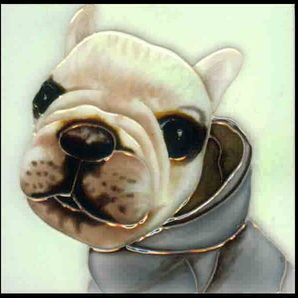 Dog  5  Tile Wall Decor by Continental Art Center