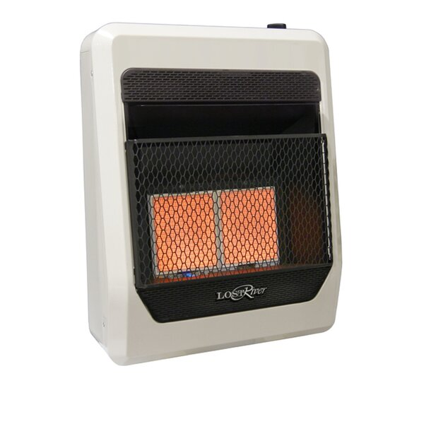 Lost River Dual Fuel Ventless Radiant Plaque Infrared Wall Mounted Heater With Automatic Thermostat By ProCom