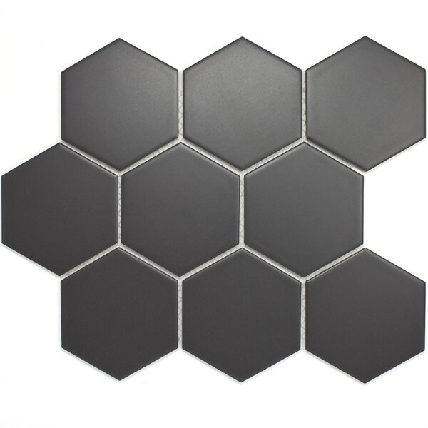 4 x 4 Porcelain Mosaic Tile in Dark Gray by Multile