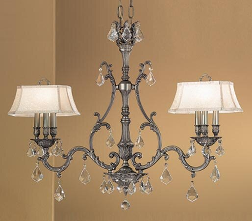 Majestic 6-Light Shaded Chandelier by Classic Lighting