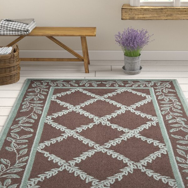 Kinchen Sage/Brown Area Rug by August Grove