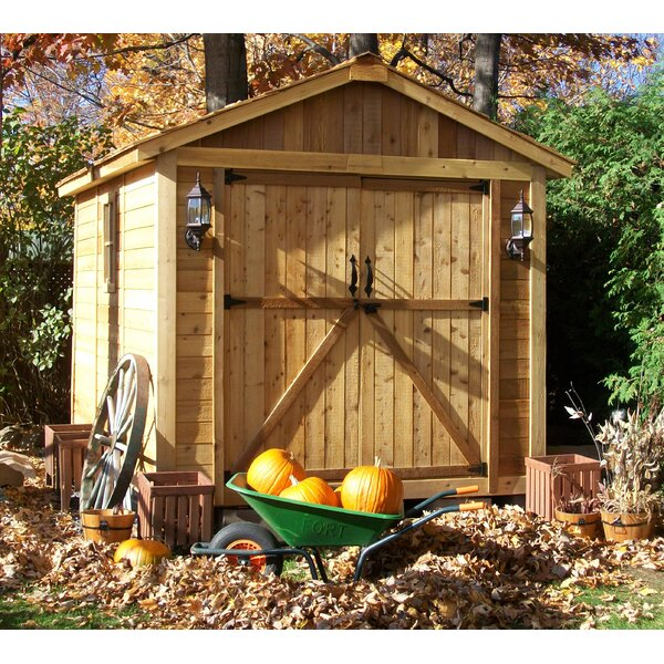 SpaceMaker 8 ft. W x 12 ft. D Wooden Storage Shed by Outdoor Living Today
