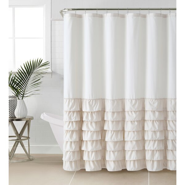 Standifer Ruffle Shower Curtain by Lark Manor
