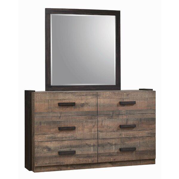 Steffan 6 Drawer Double Dresser with Mirror by Gracie Oaks