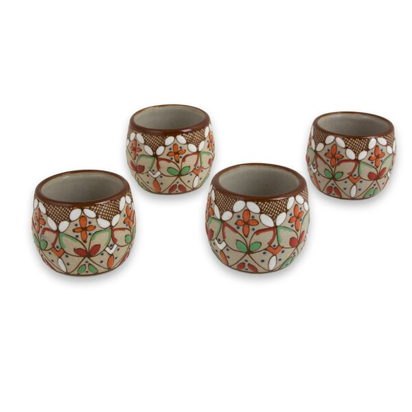 Brust Aztec Autumn Ceramic 1 oz. Shot Glass (Set of 4) by Bloomsbury Market