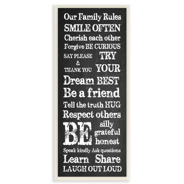 Our Family Rules Learn Share Laugh Out Loud Textual Art by Stupell Industries
