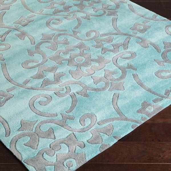 Windsor Slate Blue/Sea Blue Rug by Charlton Home