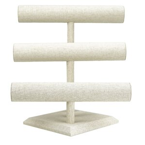 Linen 3 Tier Bracelet Bar Jewelry Stand by Hives and Honey