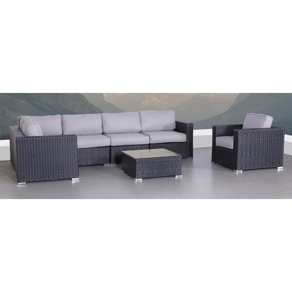 Pecos 7 Piece Sectional Seating Group with Cushions by Latitude Run