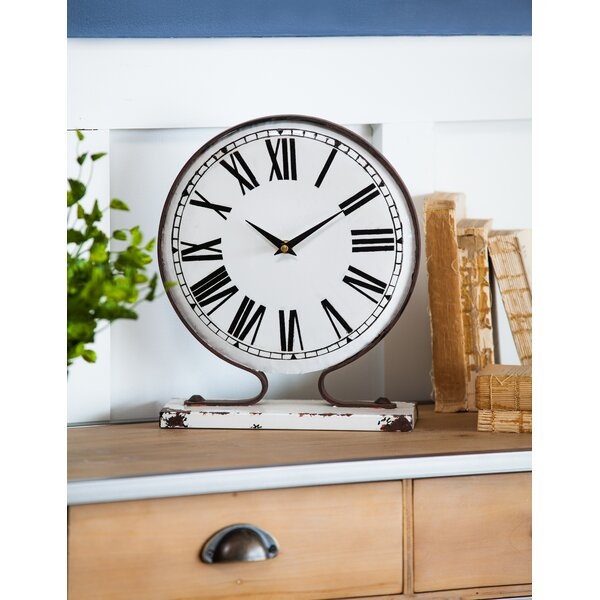 Metal Tabletop Clock by Gracie Oaks
