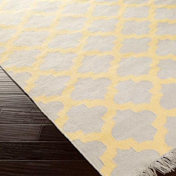 Derby Yellow/Ivory Indoor/Outdoor Area Rug by Ivy Bronx