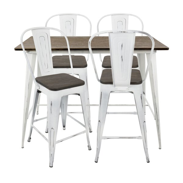 #1 Claremont 5 Piece Dining Set By Union Rustic Wonderful