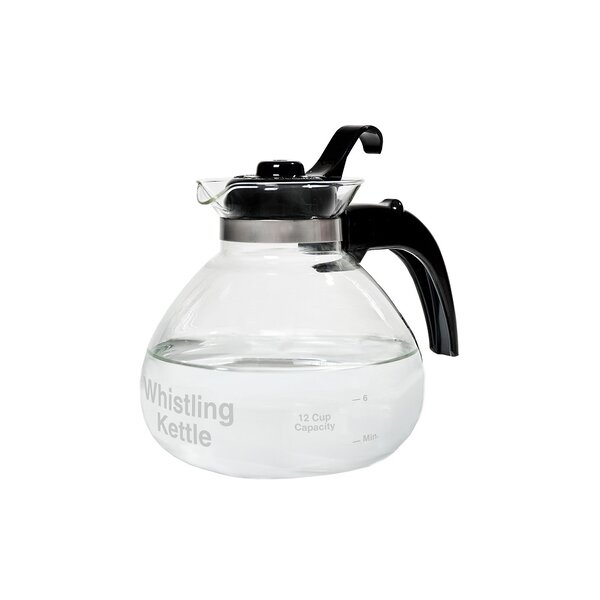1.5 Qt. Glass Whistling Stovetop Kettle by Medelco, Inc.