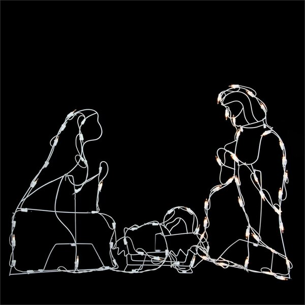 Holy Family Nativity Scene Christmas Lighting Display by The Holiday Aisle