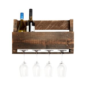 Kindred 4 Bottle Wall Mounted Wine Rack by Laurel Foundry Modern Farmhouse